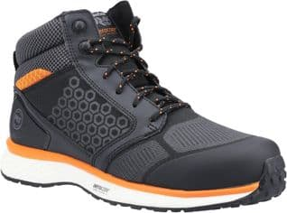 Timberland Pro Hiker Footwear Reaxion Mid Composite Safety Boot Black Orange ESD